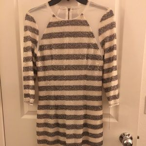 Rachel Roy Stripe Sequence Dress